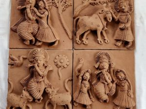 Tales of Krishna Clay Plaques