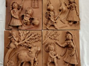 Little Krishna's Tales Clay Plaques