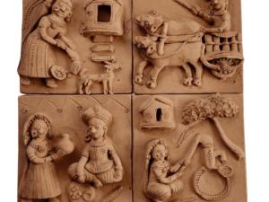 Village Tales Clay Plaques