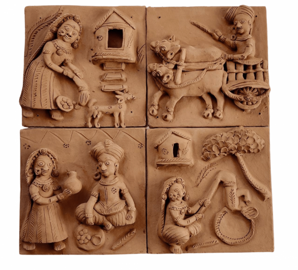 Village Tales Clay Plaques