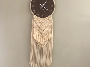 Handcrafted Macrame Wall Clock