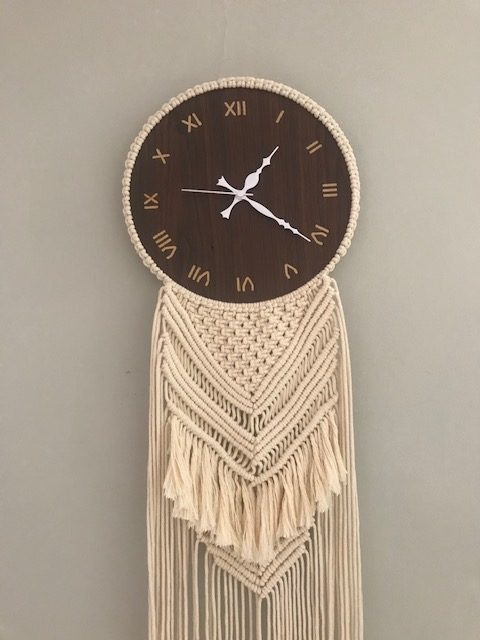 Macrame Wall Clock |