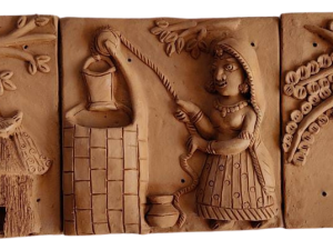 Hut In A Forest Terracotta Plaques
