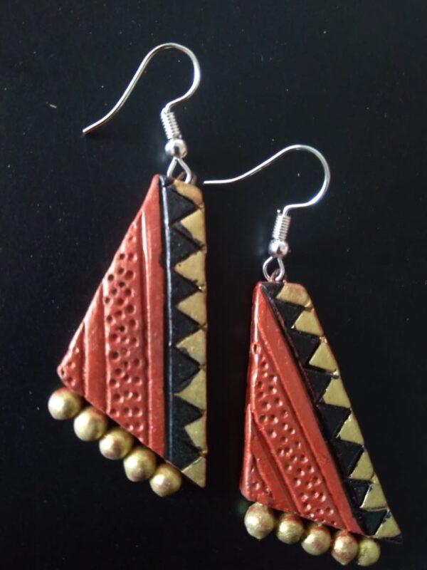 Zig Zag Pattern Handmade Earring |