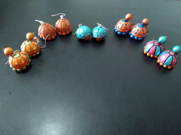 Handmade Multicolored Jhumkas Combo of 5 |