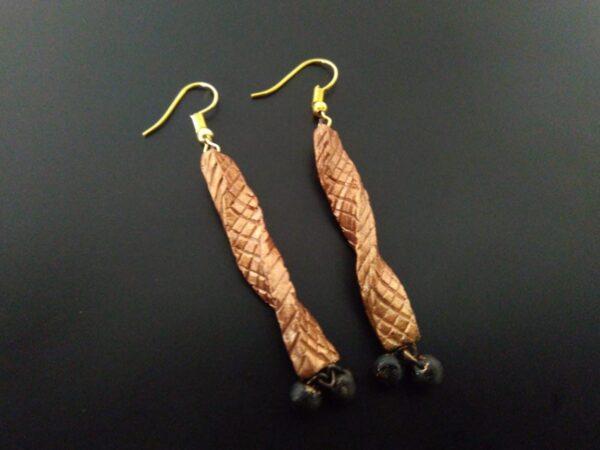 Twisted Terracotta Drop Earrings |