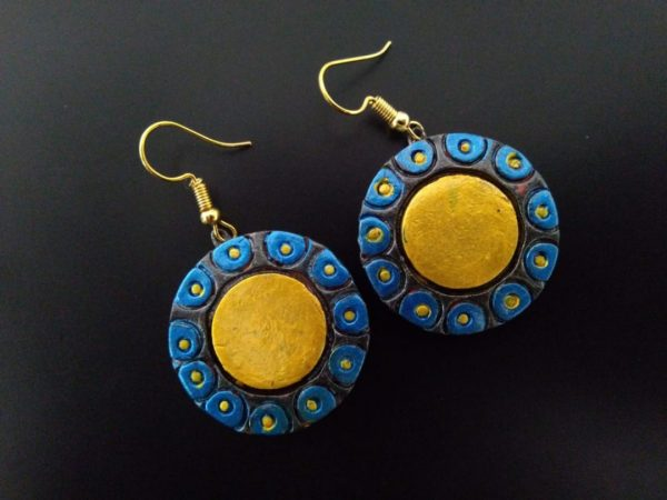 Round Surajmukhi Yellow Earring  