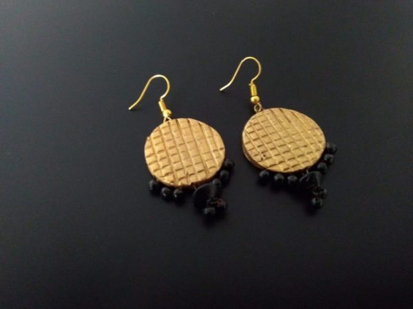 Gold Coin Shaped Earrings  