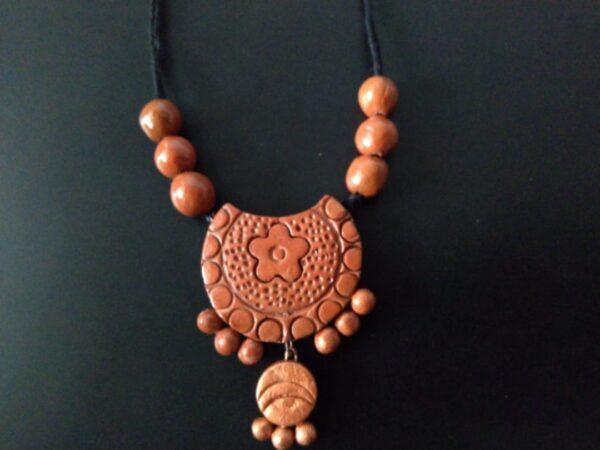 Elegant Tribal Terracotta Necklace |