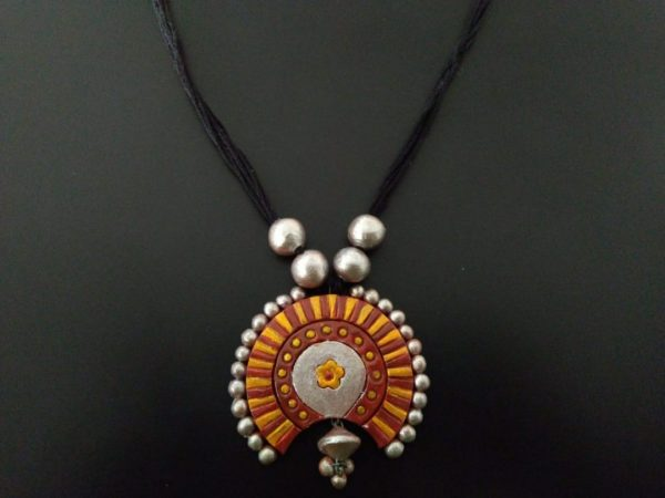Beaded Banjara Terracotta Pendant |