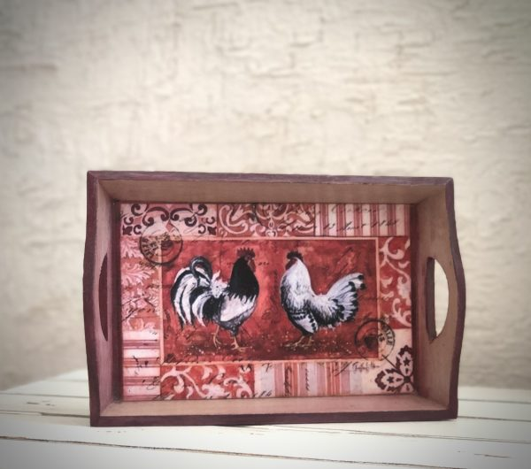 Rooster Design Small Tray |