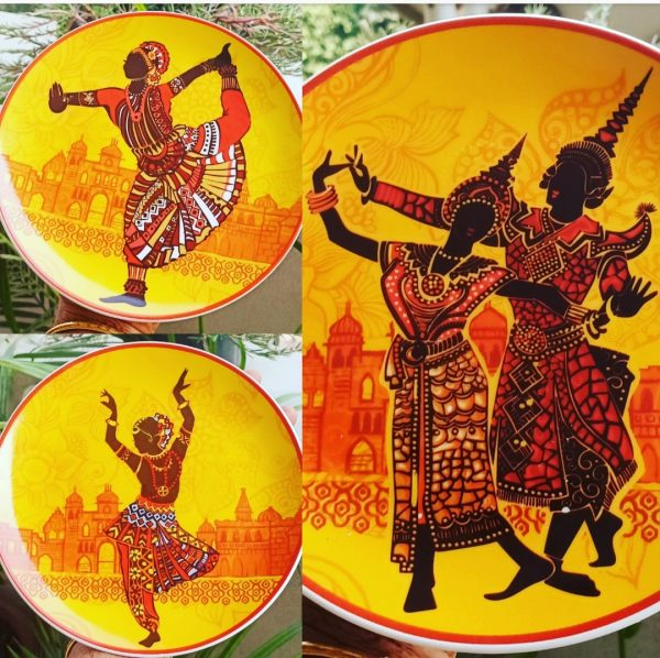 Indian Dance Forms Scratch Free Plates Set of 3 |