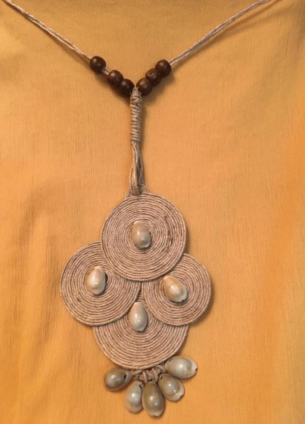 Tribal Jute Neckpiece - Earrings set with Kaudi |