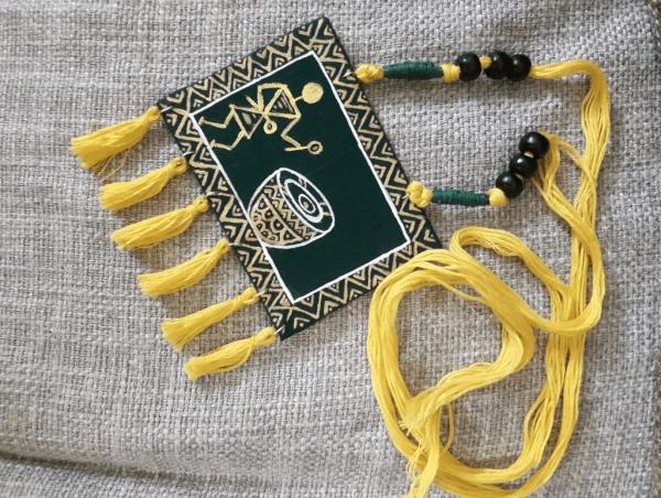 Warli Art Handpainted Neckpiece |