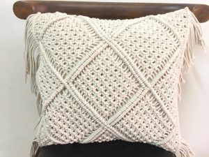 Handmade macrame cushion cover