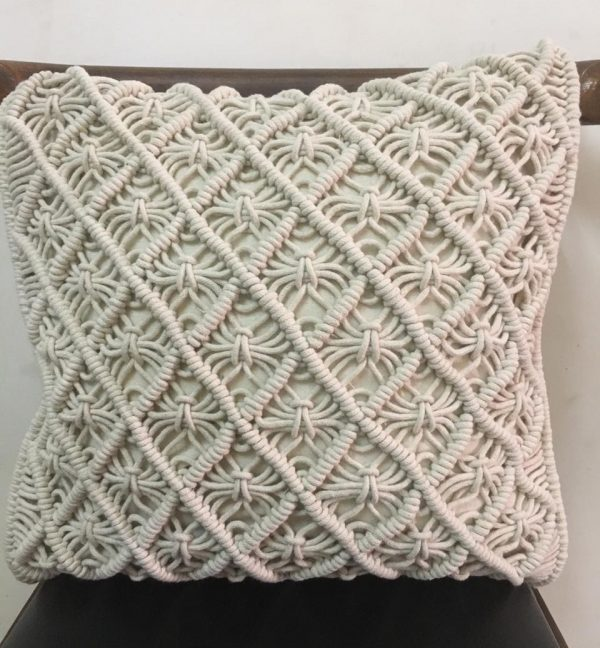 Handmade macrame cushion cover
