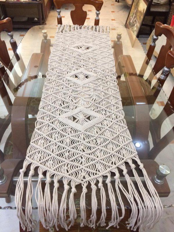 Handmade Macrame Table Runner
