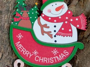 Christmas 3D Wooden Santa Hanging