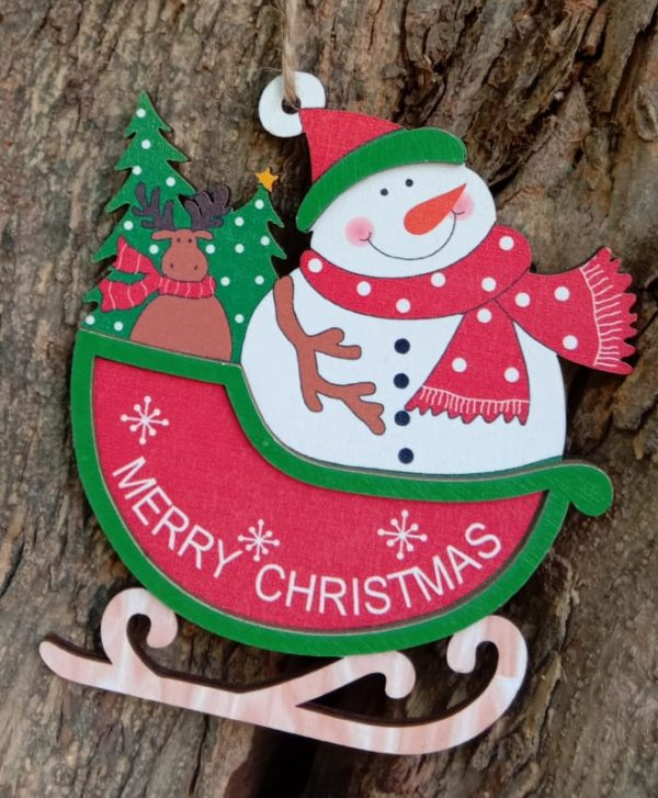 Christmas 3D Wooden Santa Hanging