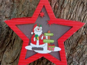 Merry Christmas Wooden Light Star
