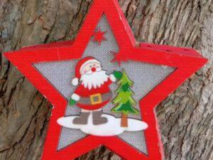 Merry Christmas Santa Light Star