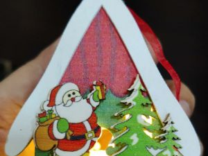 Merry Christmas Santa Claus with House