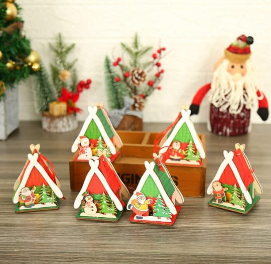 3 Snow Man & 3 Santa Claus with House | 3 Snow Man & 3 Santa Claus with House |