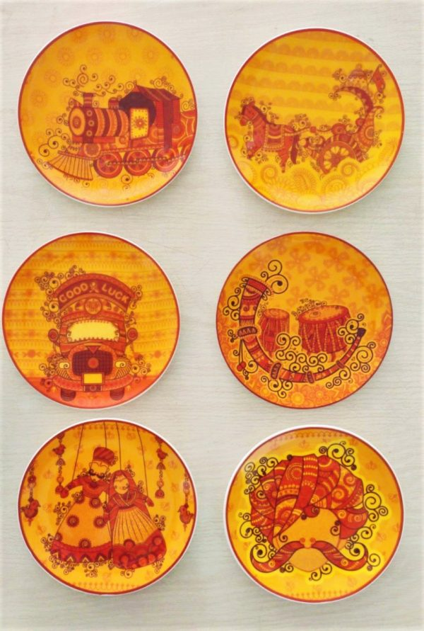 Lively Wall Hangings - Scratch Free- Set Of 6 | Lively Wall Hangings |