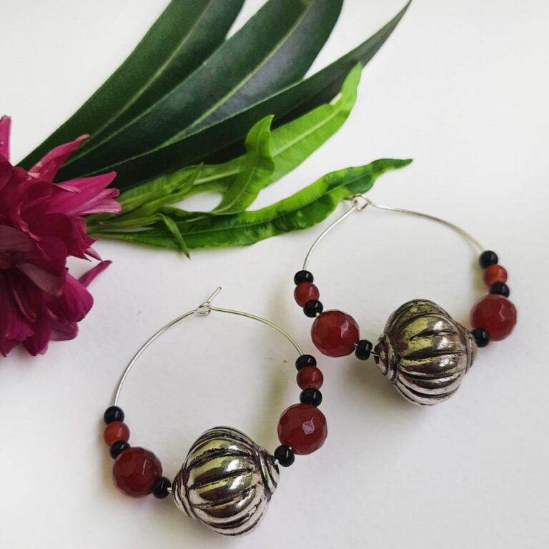 Brown Hoops Earrings | Brown Hoops Earrings |