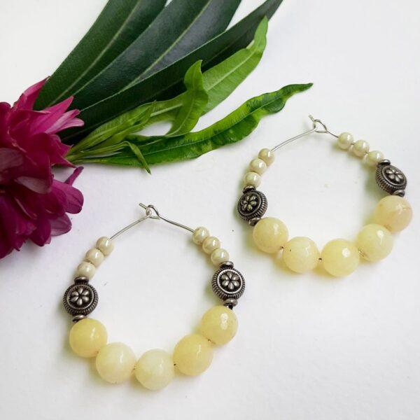 Ivory Hoops Earrings | Ivory Hoops Earrings |
