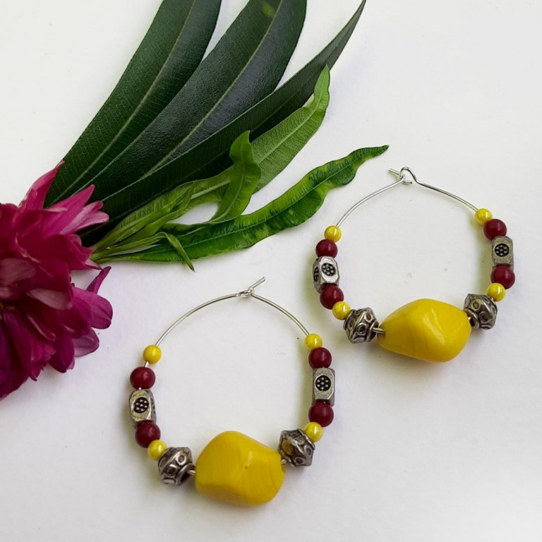 Yellow Hoops Earrings | Yellow Hoops Earrings |