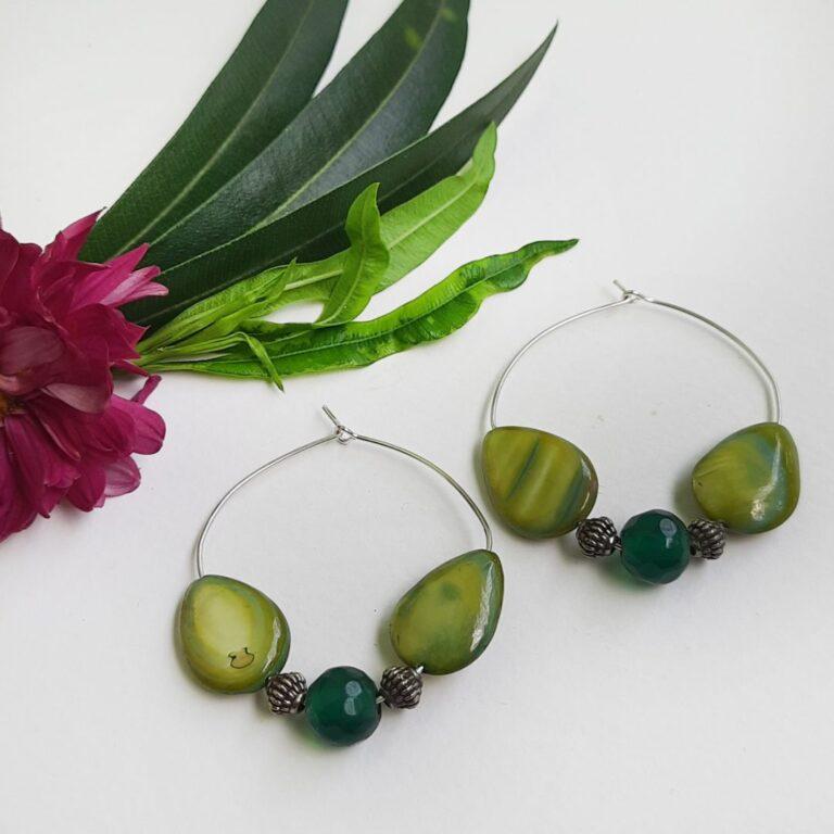 Light Green Hoops Earrings | Light Green Hoops Earrings |