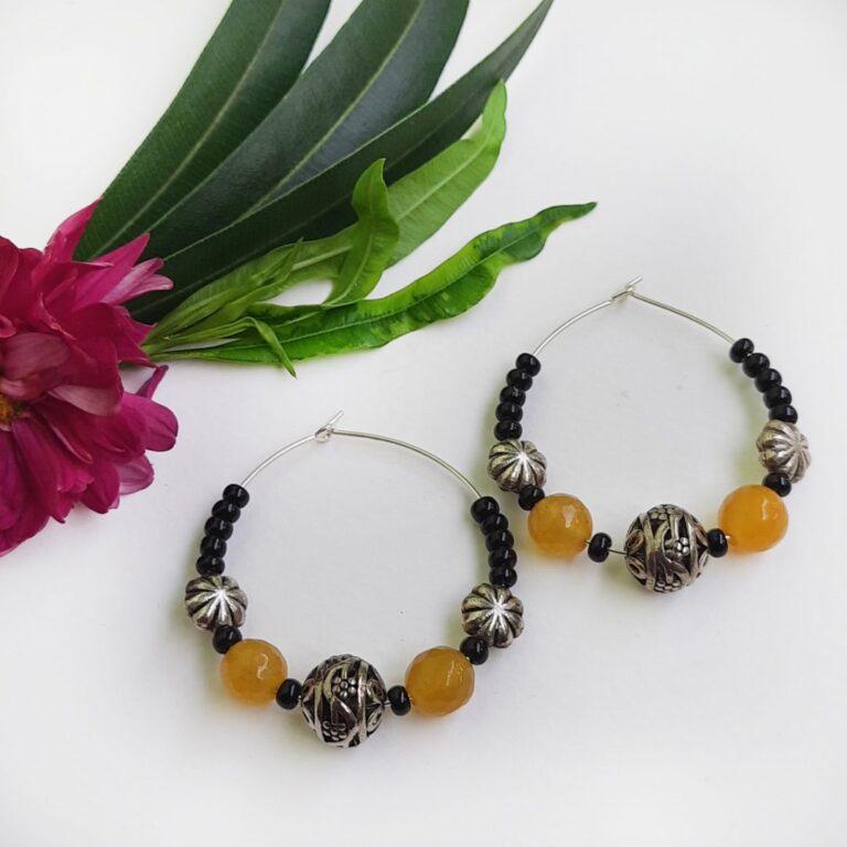 Orange Hoops Earrings | Orange Hoops Earrings |