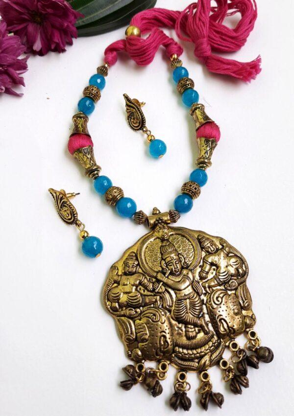 Krishna Ethnic Antique Neckset | Krishna Ethnic Antique Neckset |