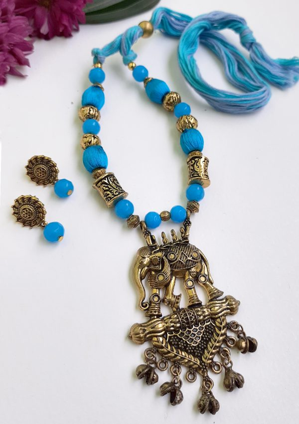 Blue Elephant Ethnic Antique Neckset | Blue Elephant Ethnic Antique Neckset |