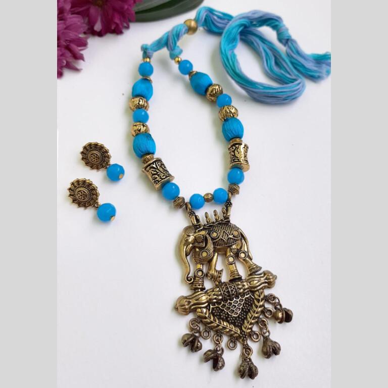 Blue Elephant Ethnic Antique Neckset | Blue Elephant Ethnic Antique Neckset |