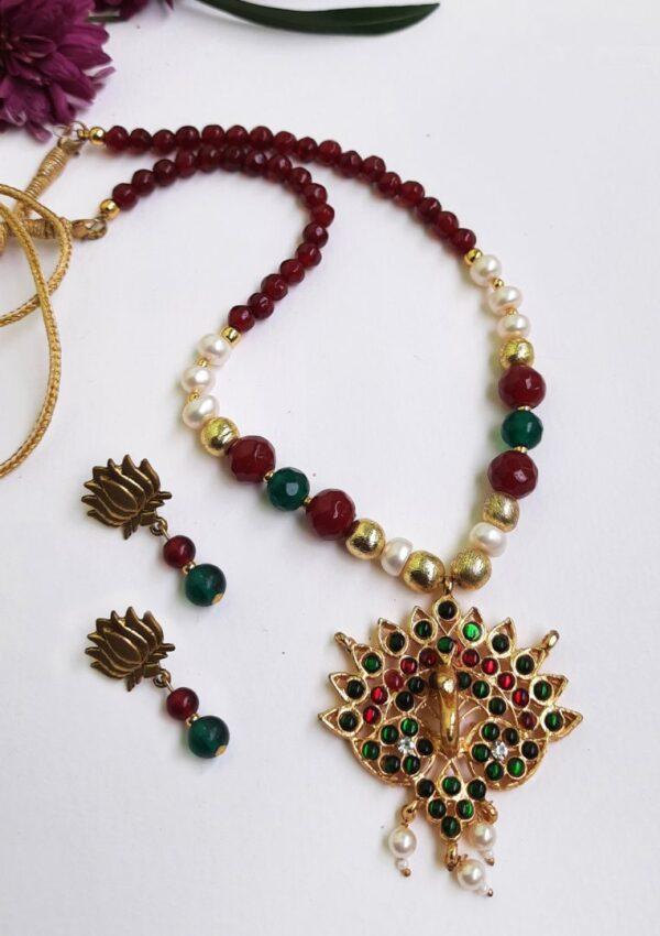 Lotus Ethnic Antique Neckset | Lotus Ethnic Antique Neckset |