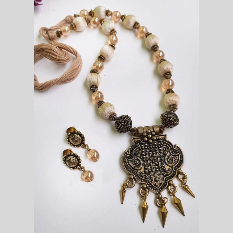 Ivory Beads Ethnic Antique Neckset | Ivory Beads Ethnic Antique Neckset |