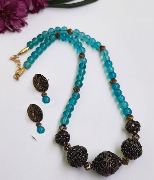 Sky Blue Ethnic Antique Neckset | Sky Blue Ethnic Antique Neckset |