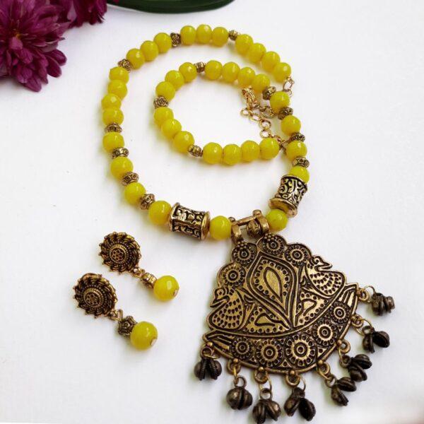 Ethnic Antique Yellow Neckset | Ethnic Antique Yellow Neckset |