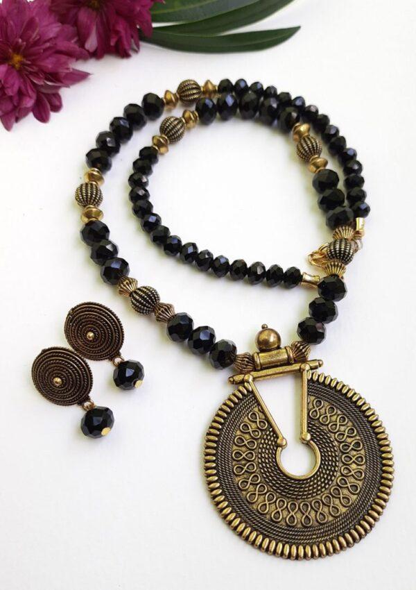 Black Ethnic Antique Neckset   Black Ethnic Antique Neckset  