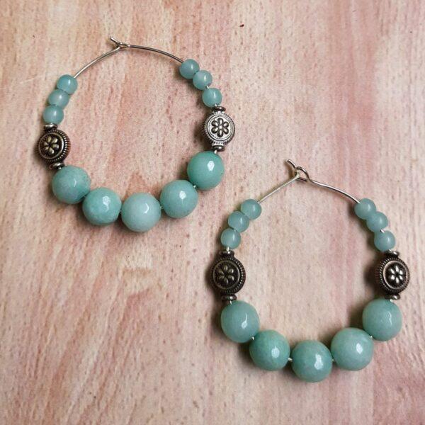 Turquoise Hoops Earrings | Turquoise Hoops Earrings |