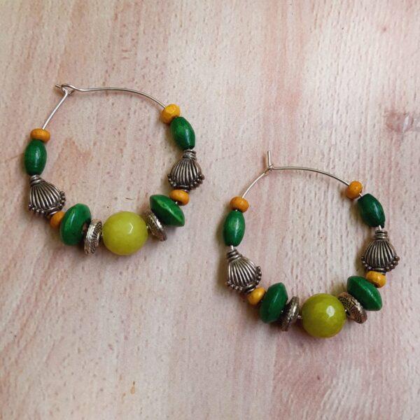 Multicoloured Hoops Earrings | Multicoloured Hoops Earrings |