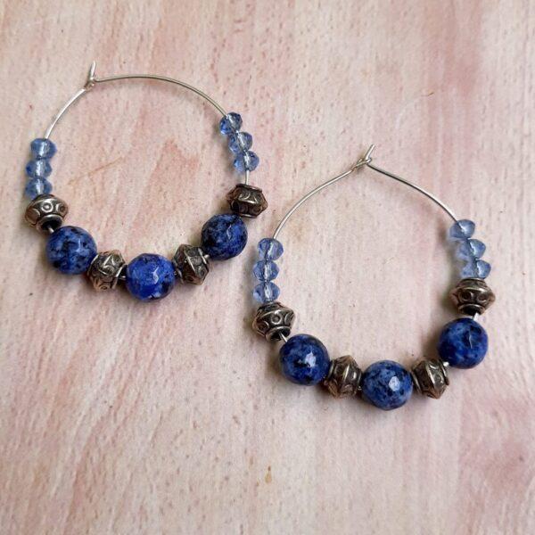 Light Blue Hoops Earrings | Sky Blue Hoops Earrings |