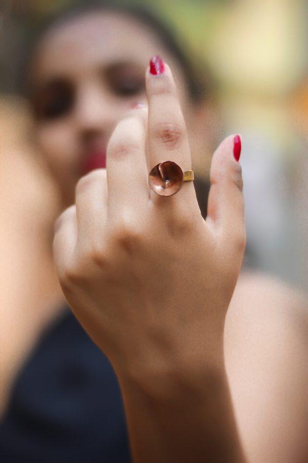 Copper Flower Ring   Copper Flower Ring  
