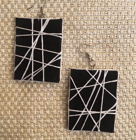 Square and Round Maze Design Earrings ( Combo offer Set of 02 pair)   Square and Round Maze Design Earrings  
