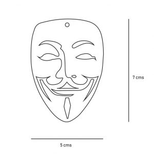 Anonymous Mask Locket | Anonymous Mask Locket |