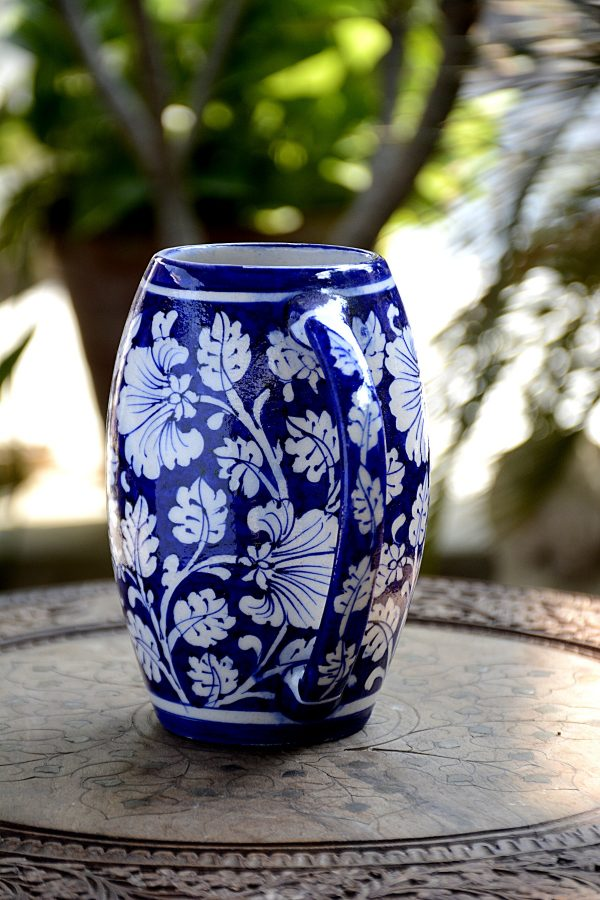 Blue Pottery Blue & White Floral Beer Mug   Blue Pottery Blue & White Floral Beer Mug  