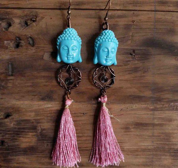 Blue Buddha Dream Catcher Earrings | Blue Buddha Dream Catcher Earrings |
