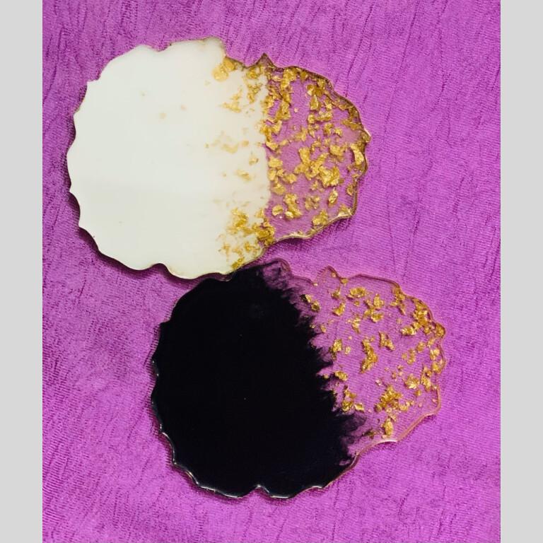 Resin Coasters (Set Of 2)   resin  